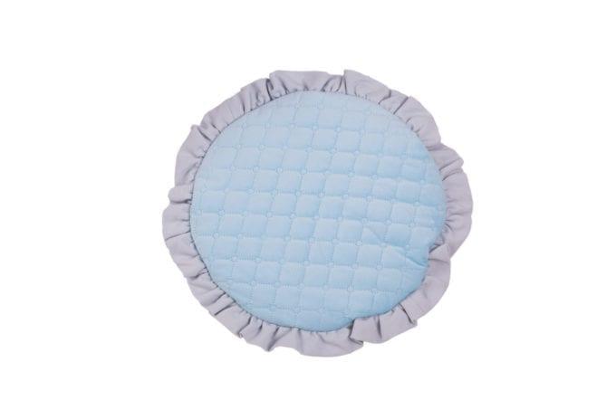 plaska poduszka dla najmlodszych blekitna 2078
