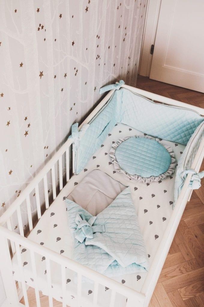 plaska poduszka dla najmlodszych niebieska 2037