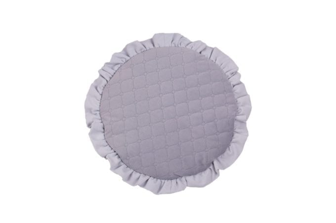 plaska poduszka dla najmlodszych szara 2080