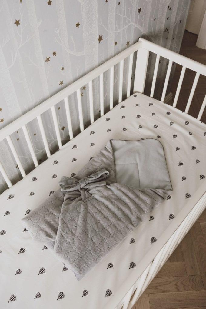 rozek niemowlecy szaro szary 1972