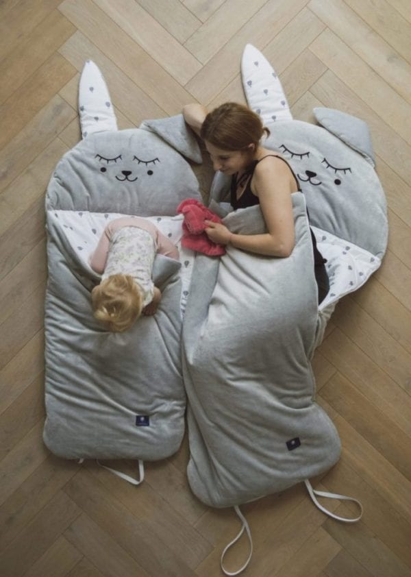 spiworek sleepover medium szary zajac 2815