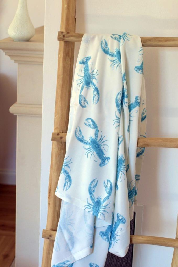 lobster blue chusta otulacz na wieszaku