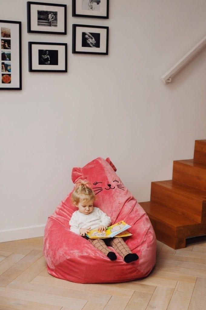 puf truskawkowy kotek 3265