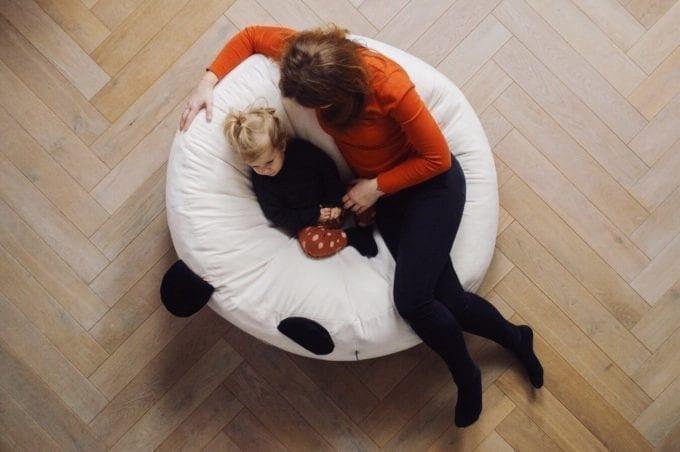 puf maxi biala panda 3243