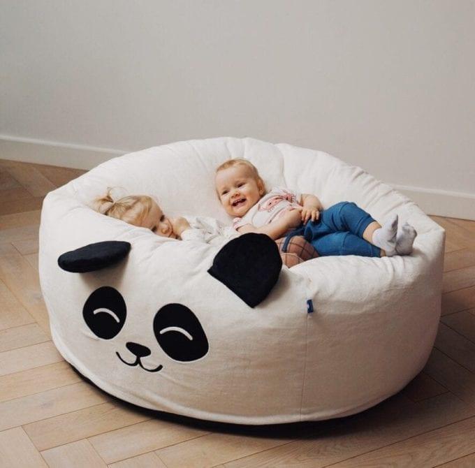 puf maxi biala panda 3245