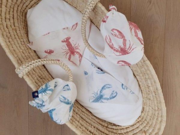 chusteczka pod szyje chusteczka z daszkiem lobster vibes blue strawberry pink
