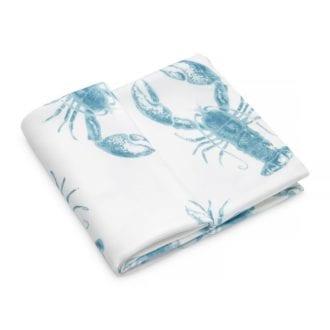 Pieluszka bambusowa - Lobster Blue