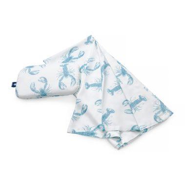 Zestaw otulacz + mała poduszka - Lobster Blue