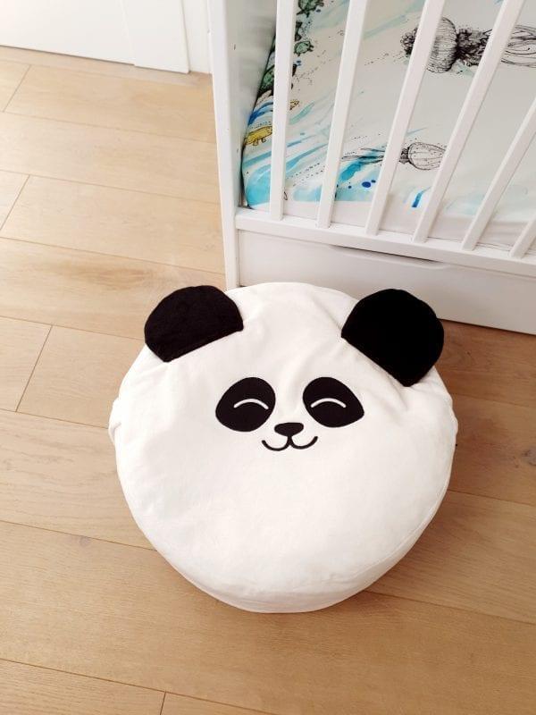 biala panda mini puf mini pufa dla dzieci mini pufa do pokoiku mini puf z wypelnieniem mini pufa worekjpg