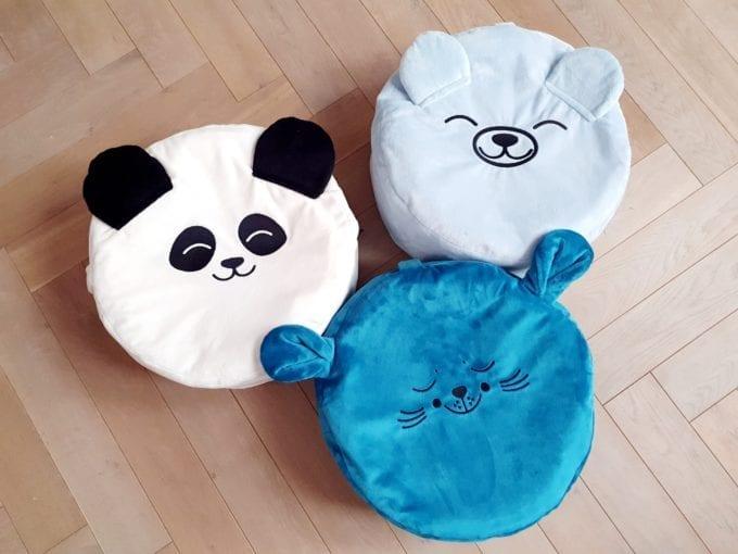 biala panda morska foka bletiny mis mini puf mini pufa dla dzieci mini puf do pokoiku mini puf z wypelnieniem