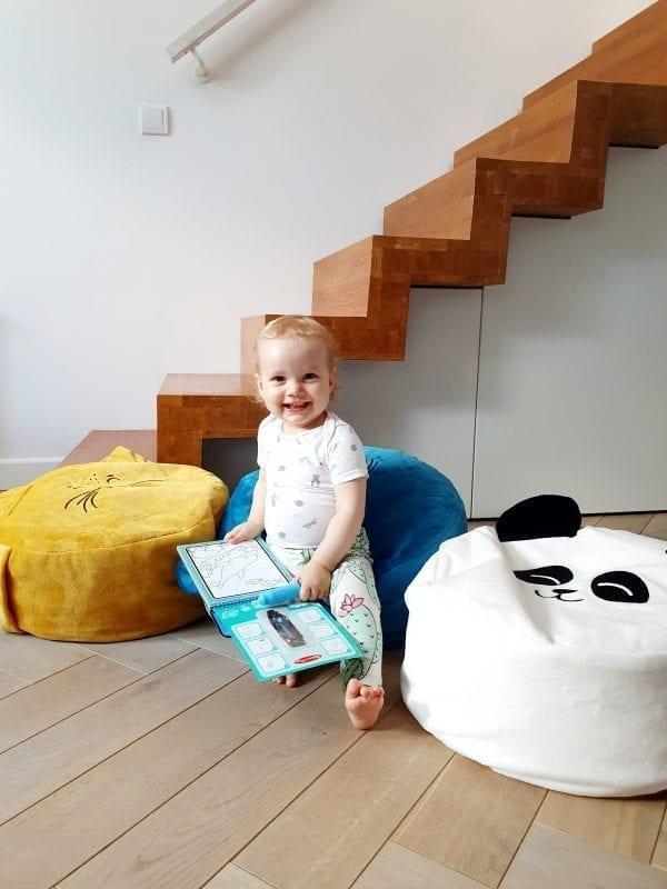 biala panda morska foka musztardowy lis mini puf dla dzieci mini pufa do pokoiku dzieciecego siedzisko dla dzieci