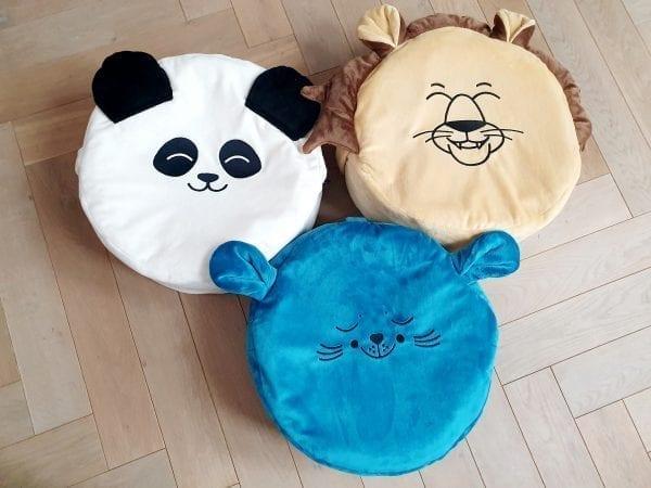 biala panda morska foka piaskowy lew mini puf mini pufa dla dzieci mini puf z wypelnieniem siedzisko