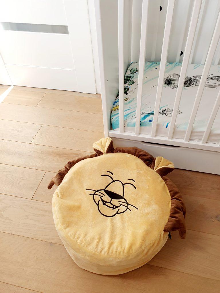 piaskowy lew mini puf mini pufa dla dzieci puf do pokoiku dzieciecego puf worek pufa z wypelnieniem