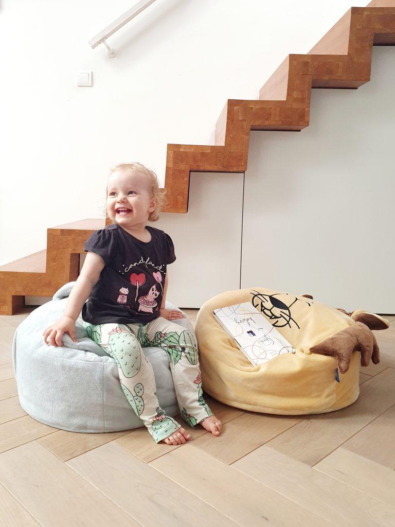 piaskowy lew szary zajac mini puf mini pufa dla dzieci siedzisko dla dzieci pufa z wypelnieniem