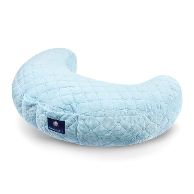 poduszka do karmienia niebieska velvet