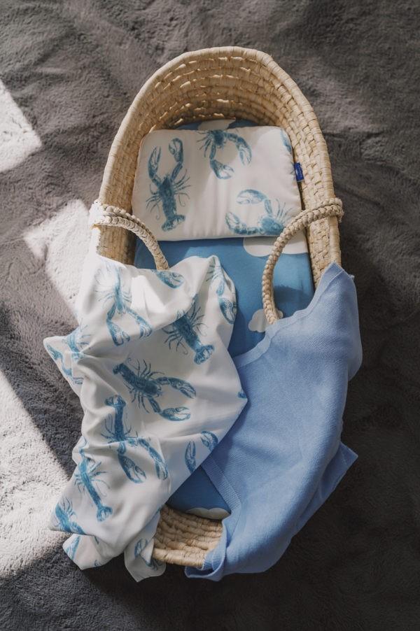 otulacz poduszka kocyk bambusowy kosz mojzesza z gory