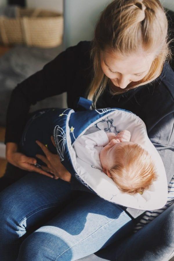 rozek niemowlecy kosmos ciemny z mama
