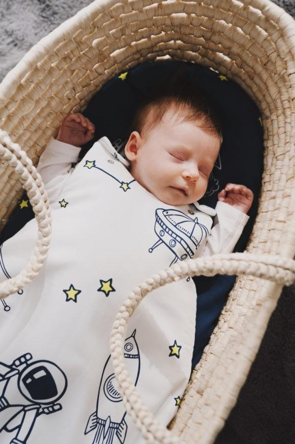 spiworek niemowlecy 0 4 kosmos jasny