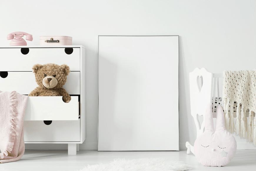 komoda w pokoju niemowlaka