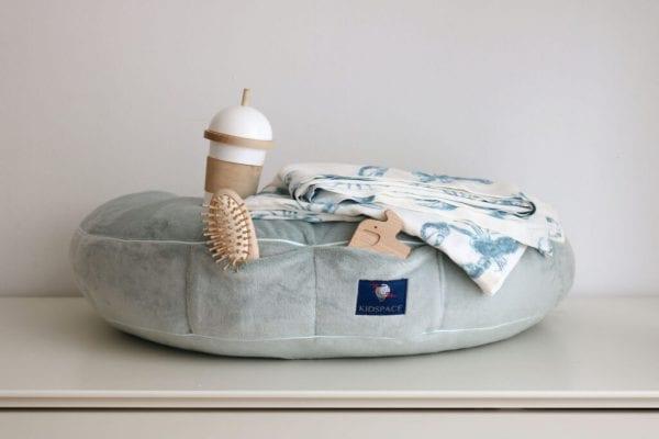 poduszka do karmienia mietowa kieszonki otulacz bambsuowy lobster blue
