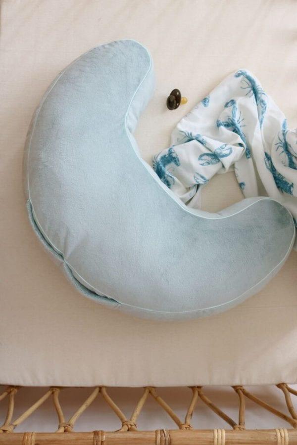 poduszka do karmienia mietowa otulacz lobster blue