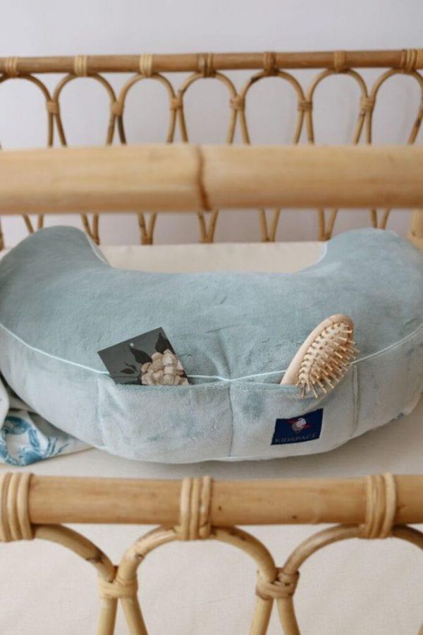 poduszka do karmienia mietowa kieszonki