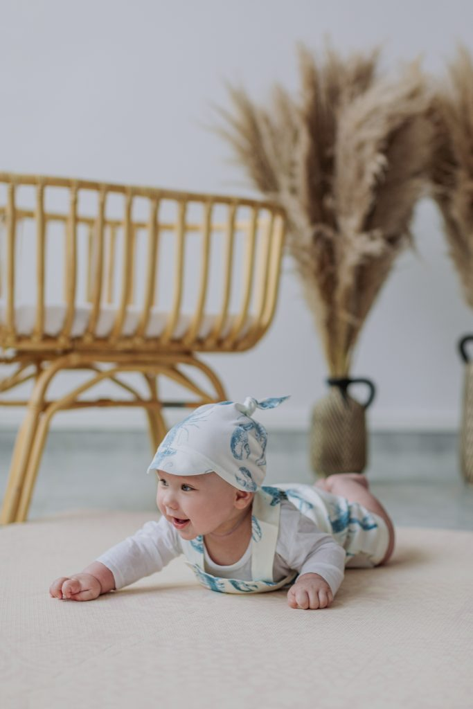 Bambusowa chusteczka z daszkiem - Lobster Blue