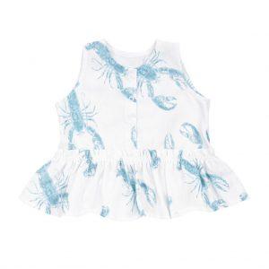 bluzeczka z baskinka bambusowa lobster blue
