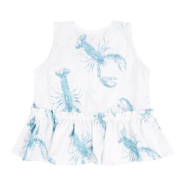 bluzeczka z baskinka bambusowa lobster blue tyl