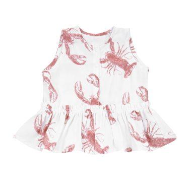 bluzeczka z baskinka lobster strawberry pink przod