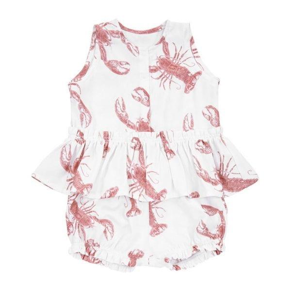 komplet bluzka bloomersy lobster pink