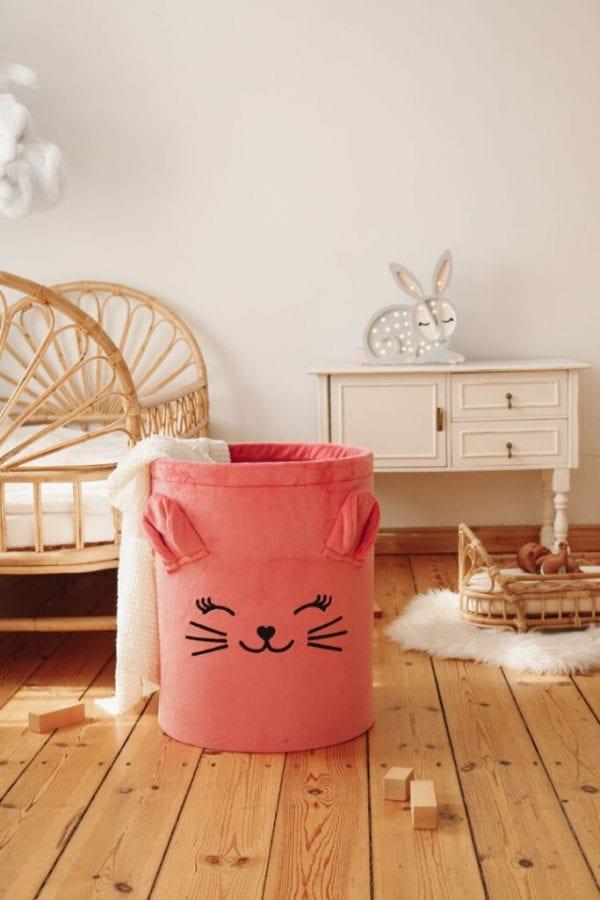 kosz na zabawki truskawkowy kotek