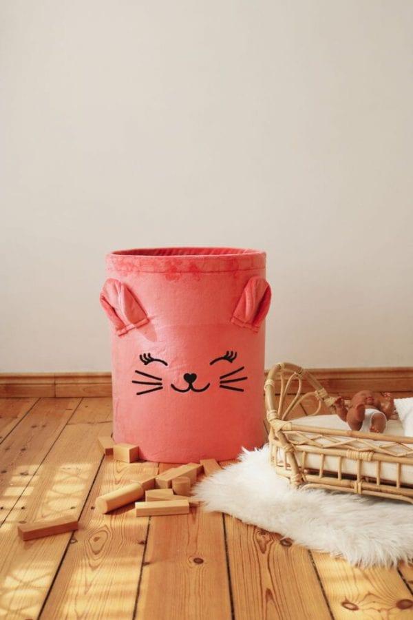 kosz truskawkowy kotek solo