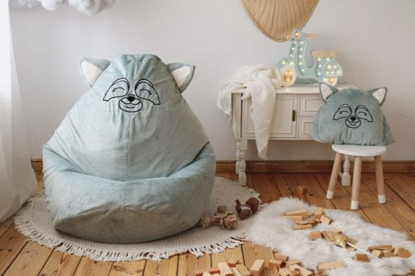 poduszka i puf mietowy szop