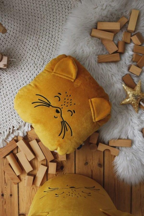 poduszka musztardowy lisek