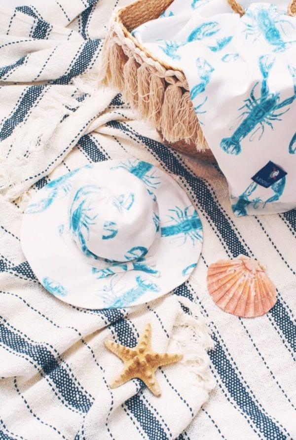 4ac84bb6 otulacz kapelusz z rondem lobster blue