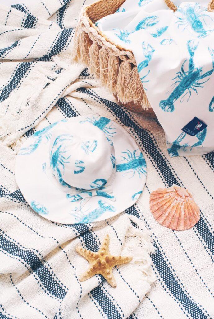 Otulacz kapelusz z rondem Lobster Blue