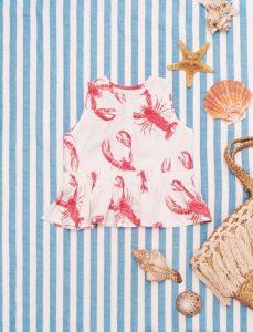 Bluzeczka z baskinką Lobster Pink