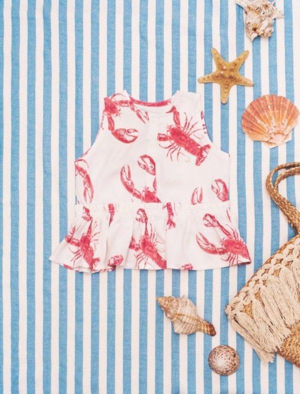9d05e43f bluzeczka z baskinka lobster pink
