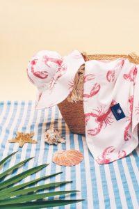 Otulacz kapelusz z rondem Lobster Pink