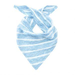 chusteczka pod szyje lniana summer stripes niebieska