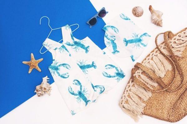 faaf8ee5 ogrodniczki chusteczka z daszkiem lobster blue