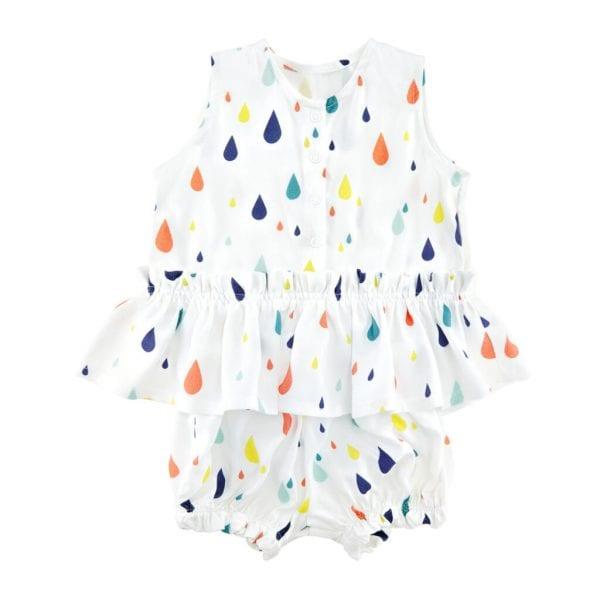 komplet drops bluzeczka z baskinka i bloomersy