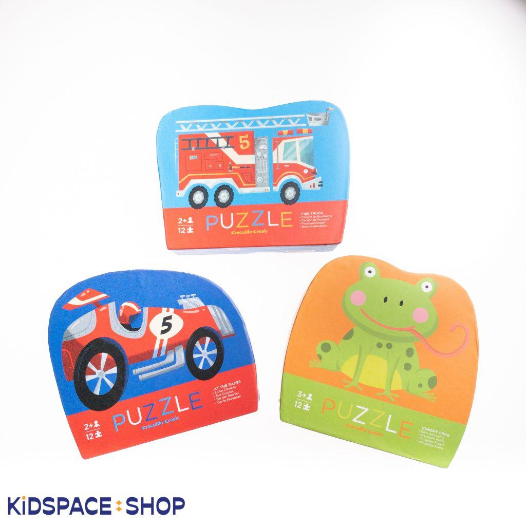 Puzzle z samochodem dla dzieci – samochód wyścigowy - Crocodile Creek
