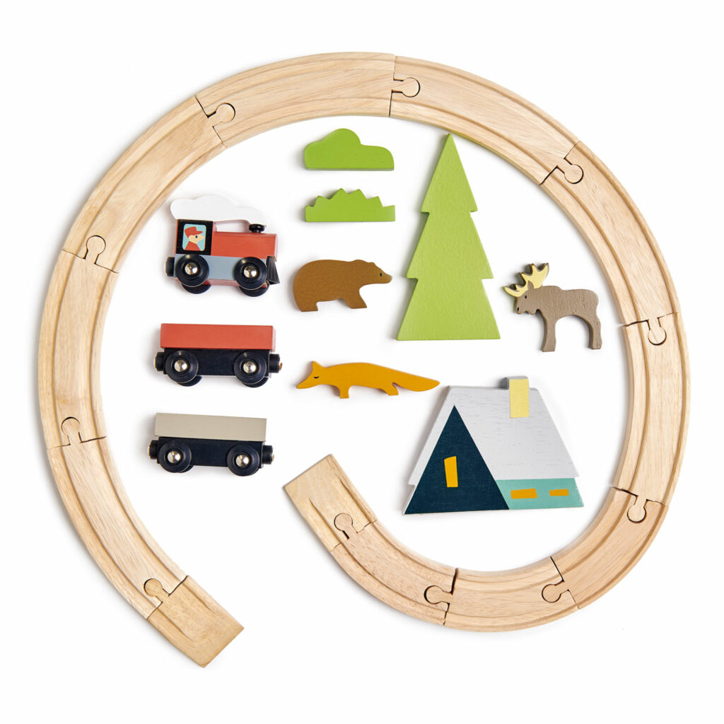 Drewniana kolejka - Tender Leaf Toys