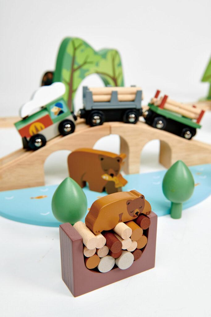 Kolejka drewniana, Podróż po lesie - Tender Leaf Toys