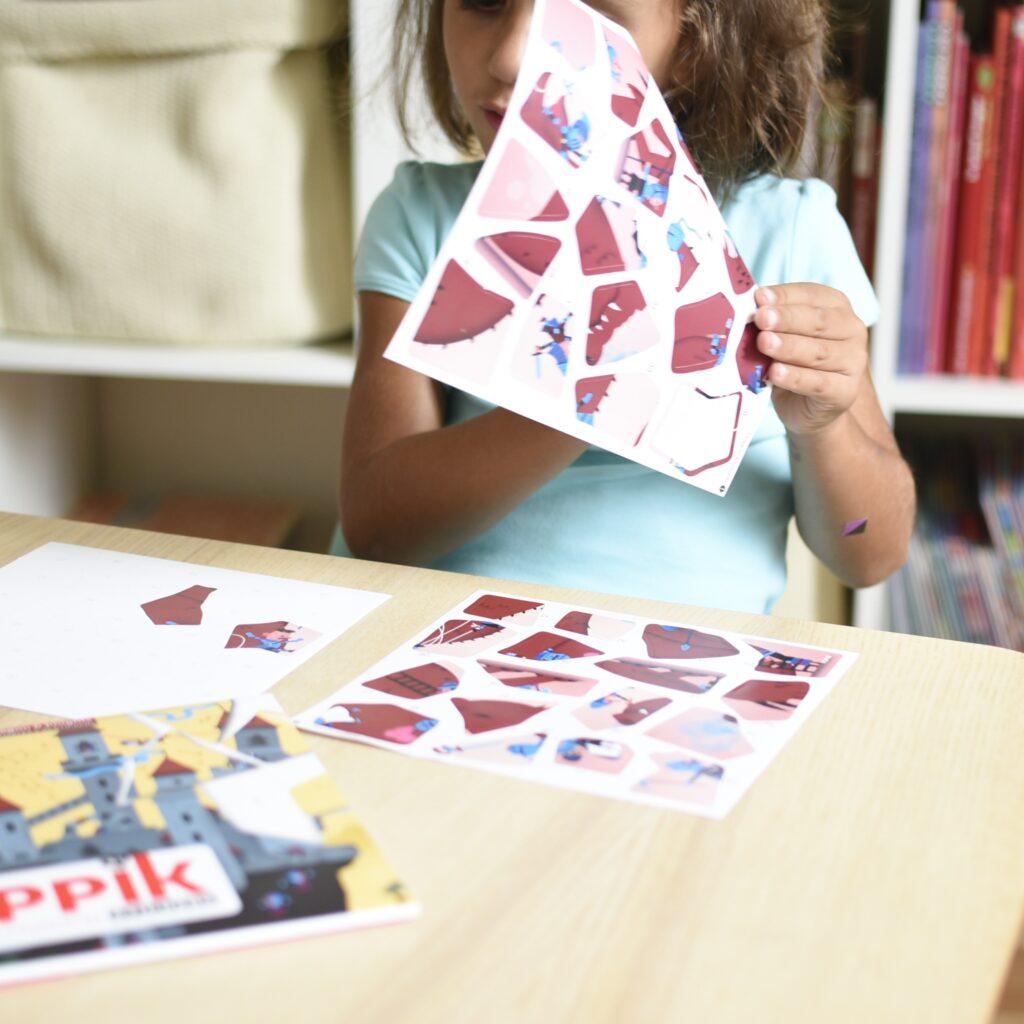 Naklejki smoki i rycerze - naklejki puzzle – Poppik