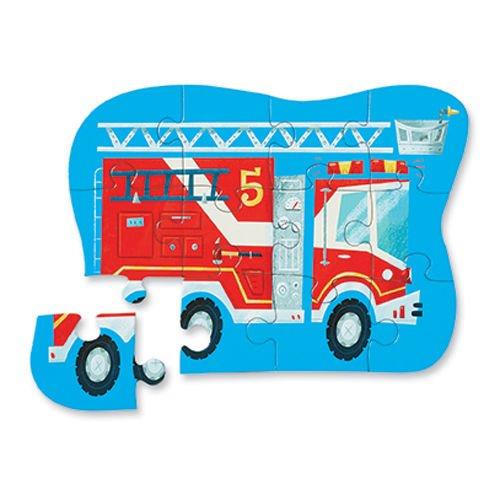 Puzzle wóz strażacki – straż pożarna, 12 elementów - Crocodile Creek