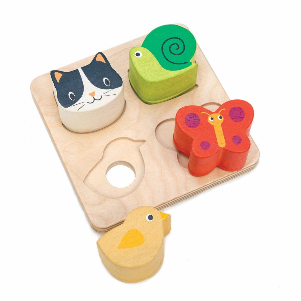 Zabawka sensoryczna drewniana, Zwierzęta - Tender Leaf Toys