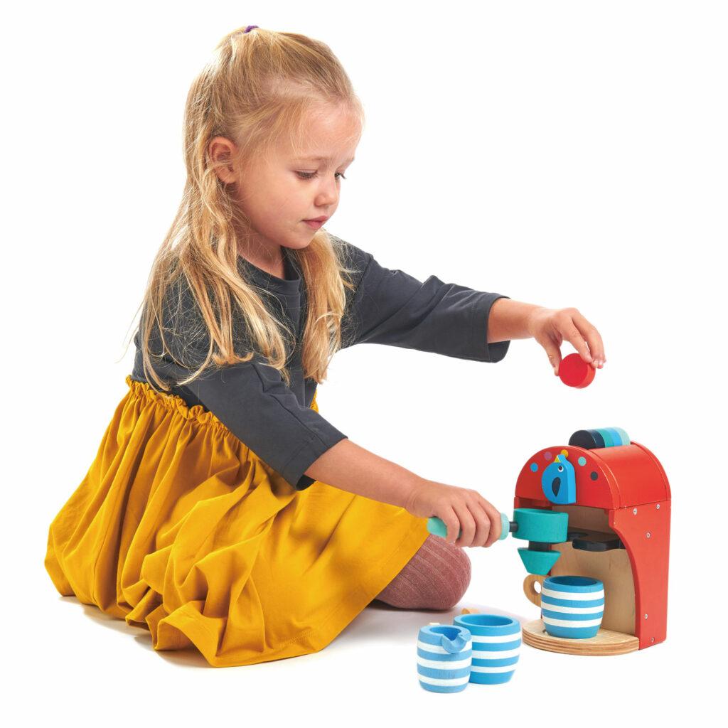 Drewniany ekspres do kawy dla dzieci - Tender Leaf Toys